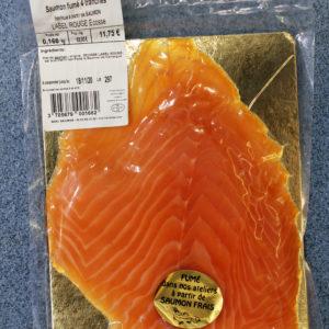 saumon fumé fait par nos poissonniers, Saumon fumé Label Rouge d'Ecosse
