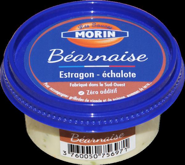 Pot de sauce béarnaise 60g Les Sauces Morin - sauce fraîche artisanale française pour accompagner grillades de viande et de poisson, pommes de terre - béarnaise