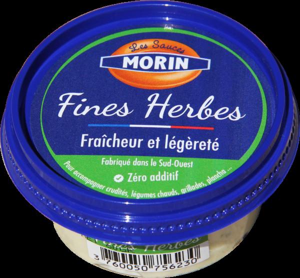 Sauce fines herbes 60g Les Sauce Morin - sauce fraîche légère pour accompagner crudités, légumes chauds, grillades, planchas - fines herbes