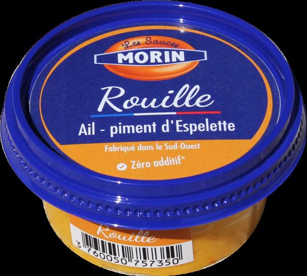 Sauce rouille 60g Les Sauce Morin - sauce à l'ail et au piment d'Espelette pour accompagner soupe de poisson, moules, fondues ou poison blanc vapeur - rouille